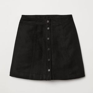 H&M Faux Suede A-Line Skirt